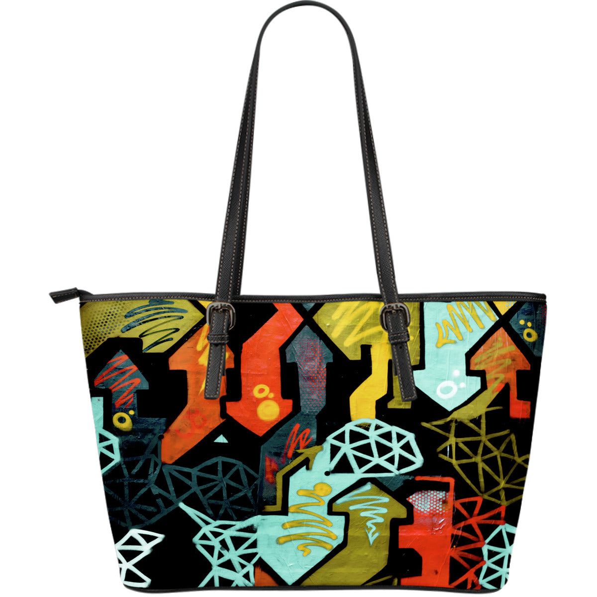 Crazy Arrows Large Leather Tote Bag