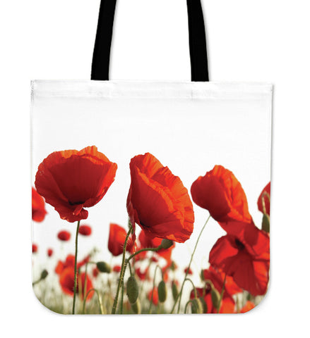 Poppy Flower Cloth Tote Bag
