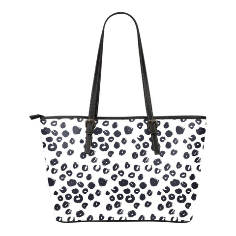 Leopard Small Leather Tote Bag