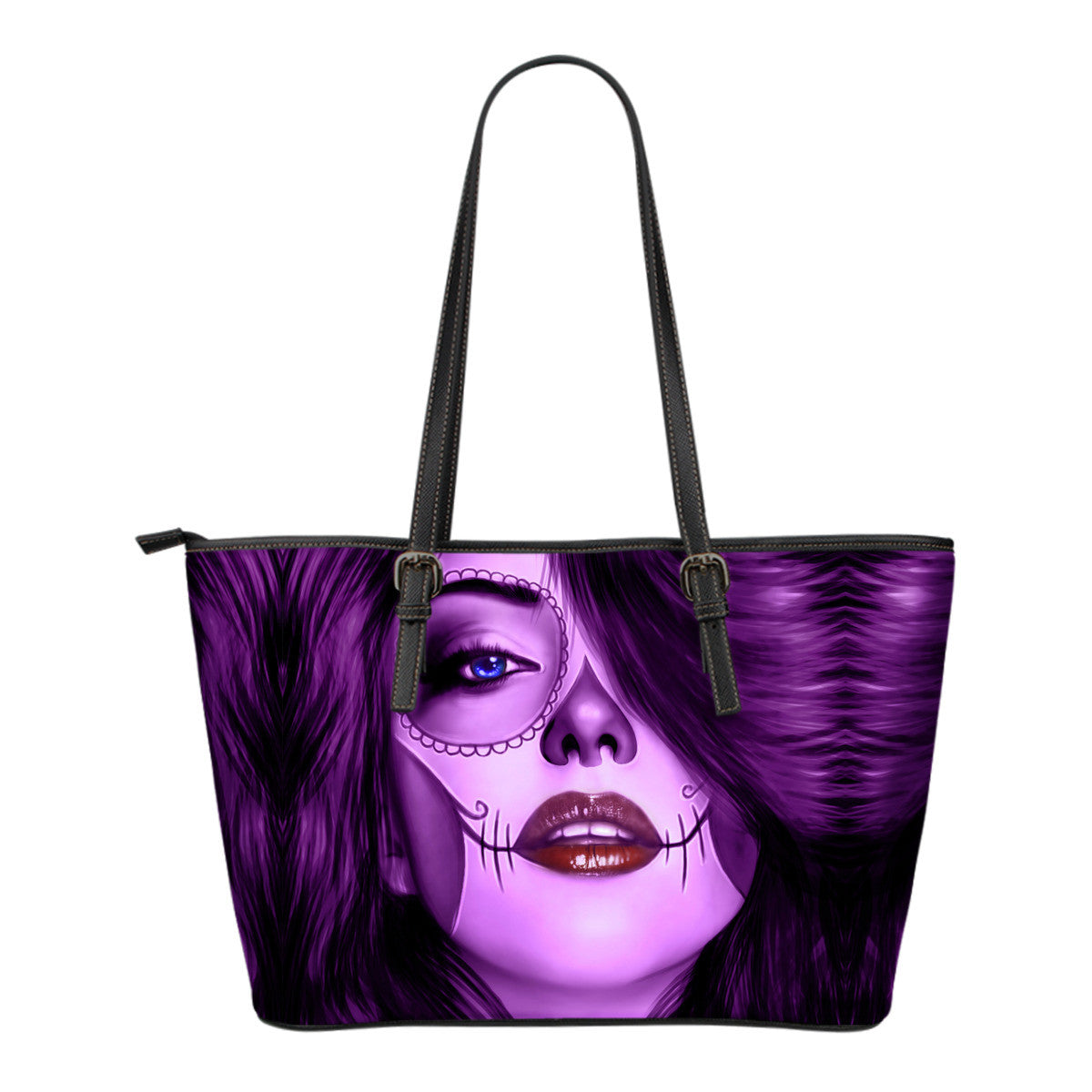 Tattoo Calavera Girl Small Leather Tote Bag - Collection 3
