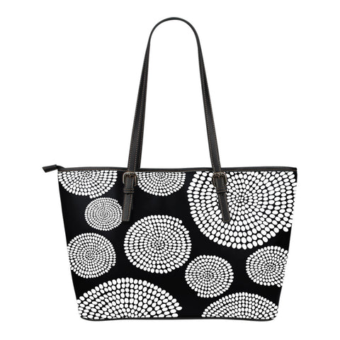 African Swirl Small Leather Tote Bag