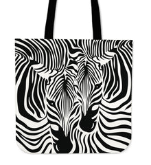 Zebra Couple Cloth Tote Bag
