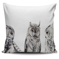 Set of Owls Pillow Cover