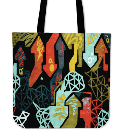 Crazy Arrows Cloth Tote Bag
