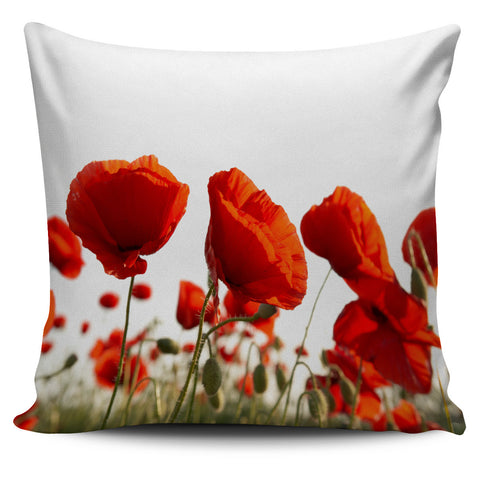 Poppy Flower Pillow Cover