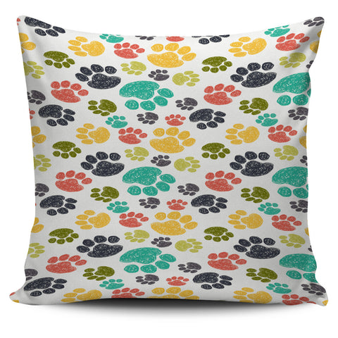 Colorful Paws Pillow Cover