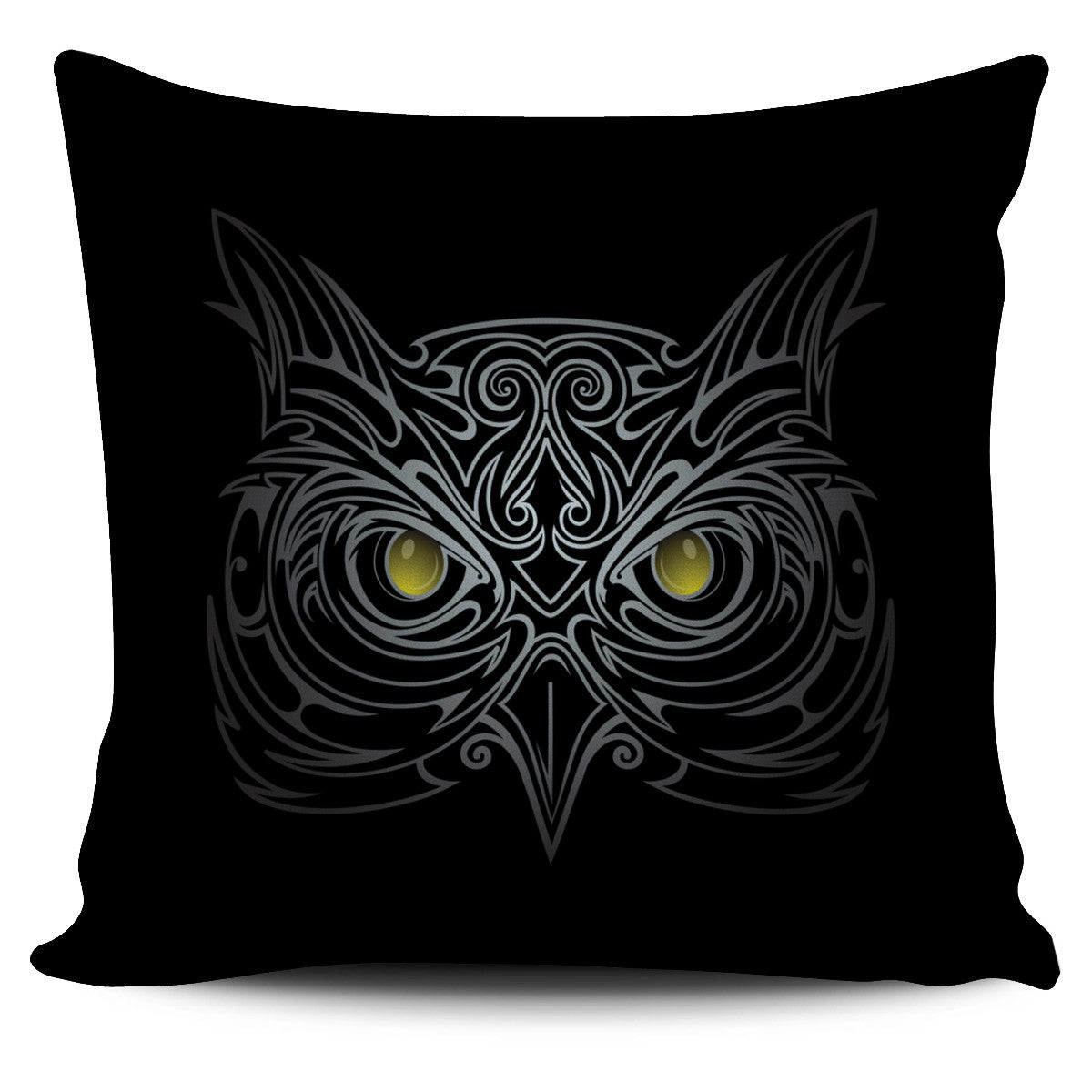 Black Owl Pillow Cover