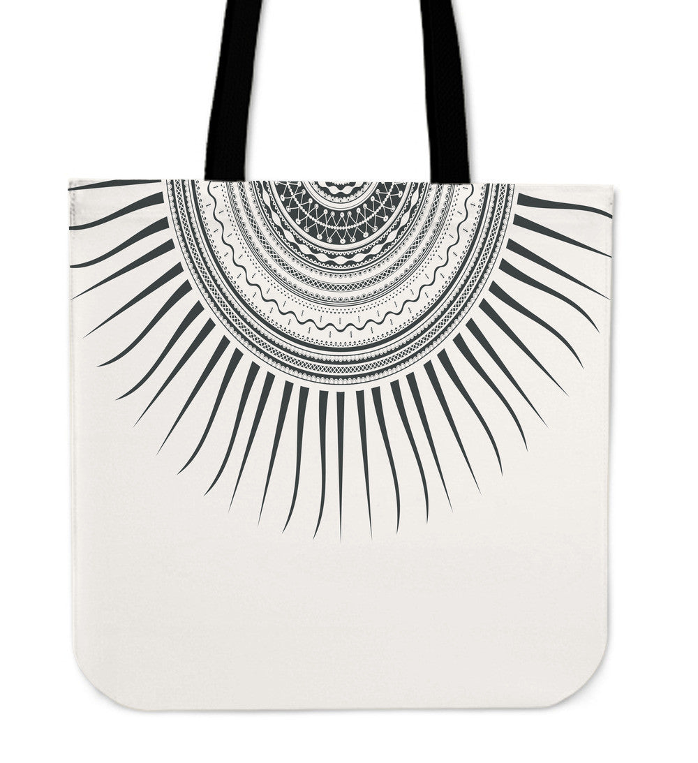 Tribal Sun Cloth Tote Bag