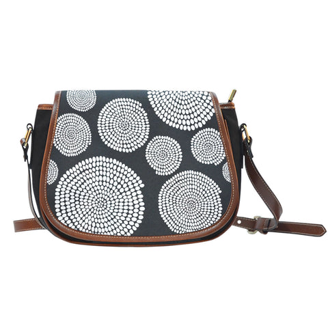 African Swirl Saddle Bag