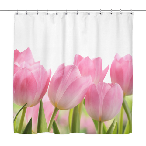 Tulip Flower Shower Curtain