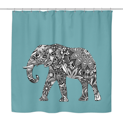 Elephant Shower Curtain - 10 styles available