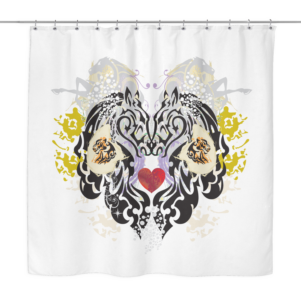 Animal Tattoo Shower Curtain The Ginger Daisy Co