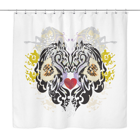 Animal Tattoo Shower Curtain