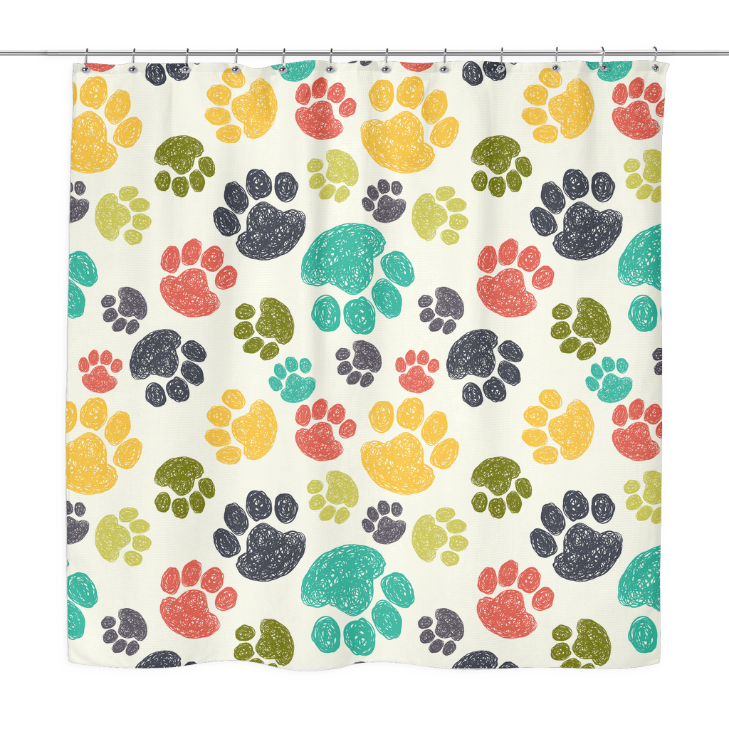 Colorful Paws Shower Curtain