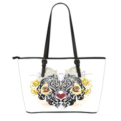 Animal Tattoo Large Leather Tote Bag