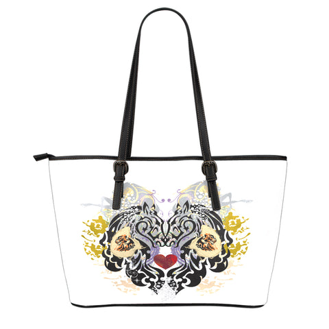 Animal Tattoo Small Leather Tote Bag