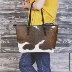Cowhide Small Leather Tote Bag