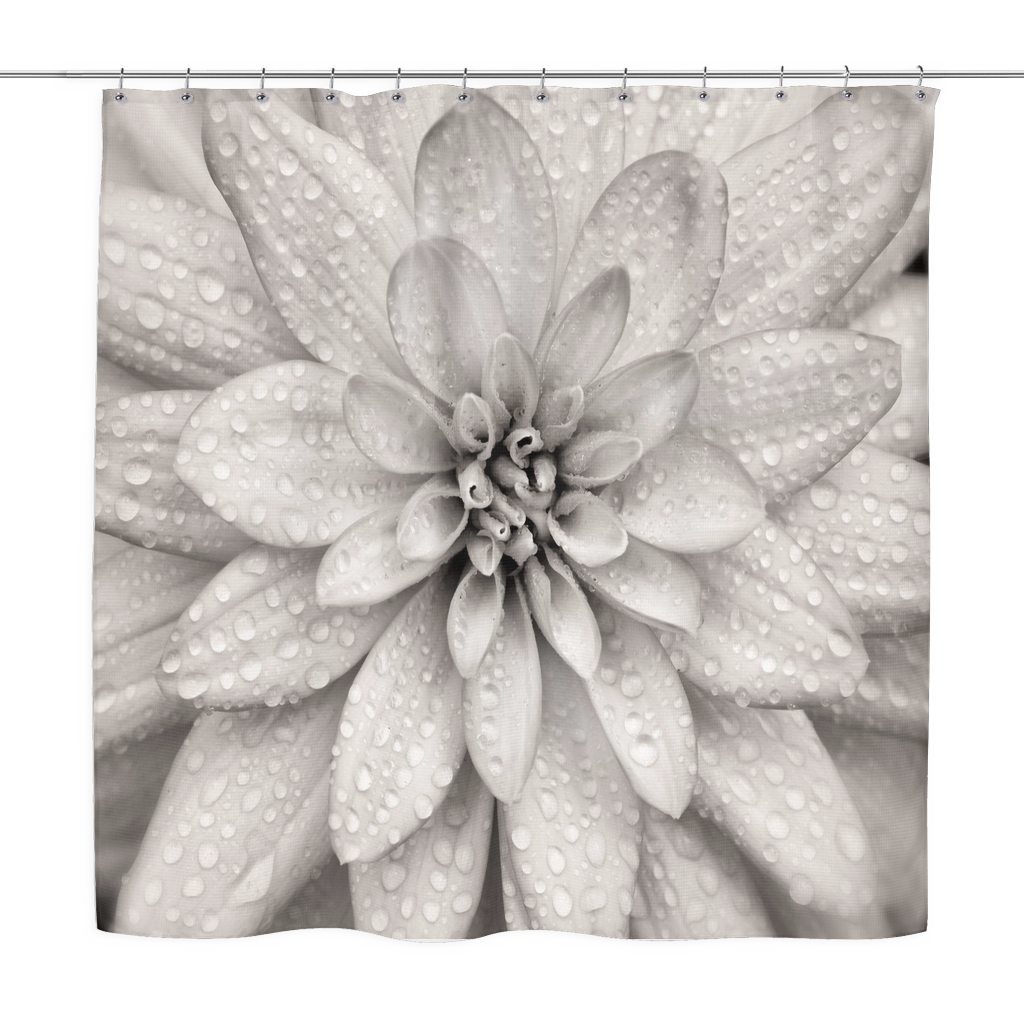 Dahlia Flower Shower Curtain