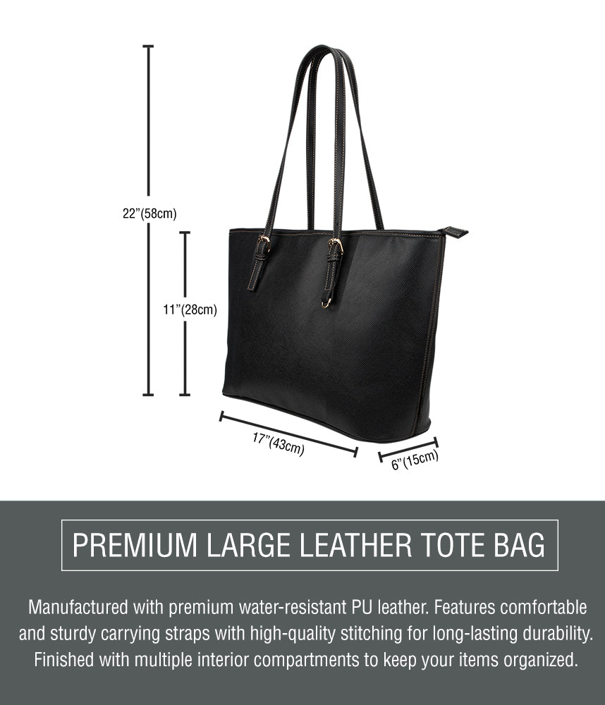 Classic Nurse Large Leather Tote Bag