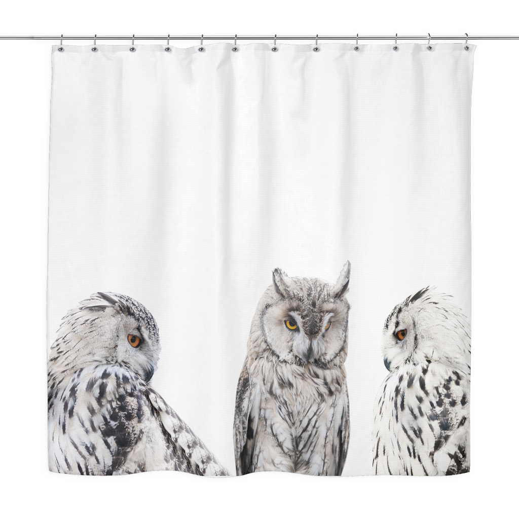 Set Of Owls Shower Curtain