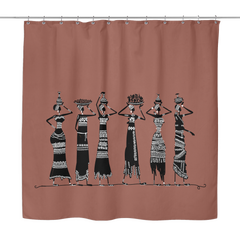 Ethnic Women Shower Curtain - 10 styles available