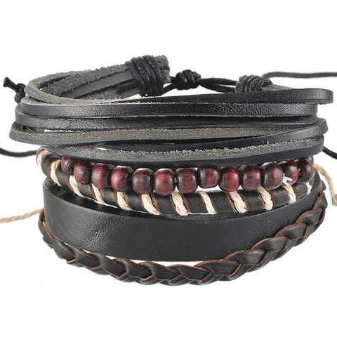 Red Garnet Multi Layer Bracelet