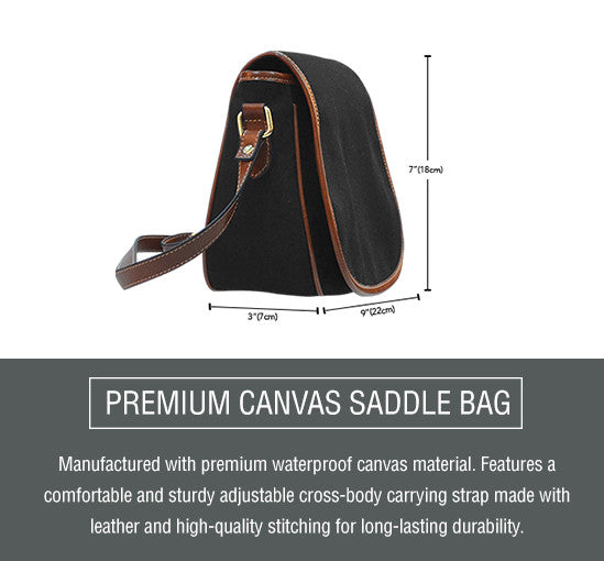Zebra Couple Saddle Bag