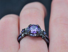 Star Flower Purple Ring