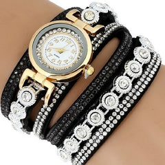 Leather Rhinestone Watch - 8 styles available