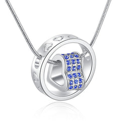 Rhinestone Heart Necklace