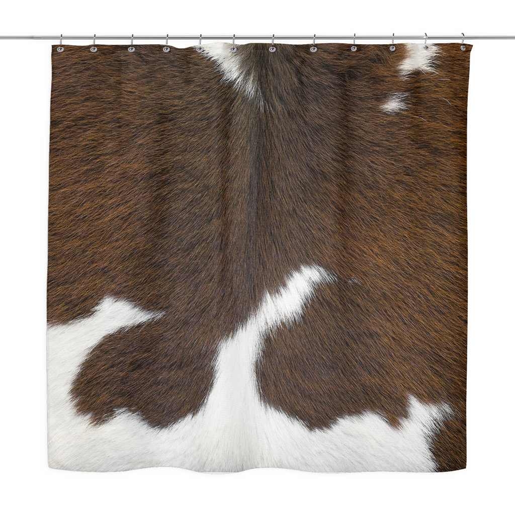 Cowhide Shower Curtain The Ginger Daisy Co