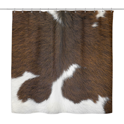 Cowhide Shower Curtain