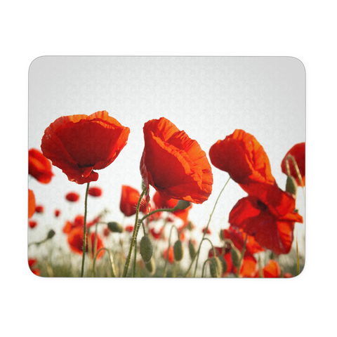 Poppy Flower Mouse Pad