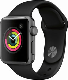 Apple Watch Series 3 (GPS)38 mm space grey aluminium smart watch with sport band