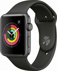 iWatch S3 GPS 42mm Space Grey with Grey Sport Band