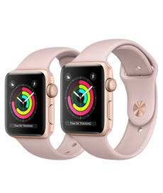 Apple Watch Series 3 GPS, 38mm Gold Pink Sand Sport Band