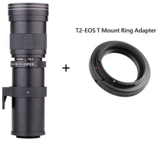 420-800Mm F/8.3-16 Super Telephoto Manual Zoom Lens Andt2 Mount Ring Adapter For Canon Eos Dslr Camera Ef Ef-S Mount Lens