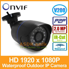 1920 X 1080P 2.0Mp 24Led Ir Waterproof Bullet Ip Camera Outdoor Cctv Camera Onvif Night Vision P2P Ip Security Cam With Ir-Cut