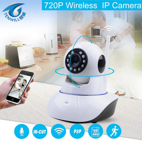 720P Security Network CCTV WIFI IP camera Megapixel HD Wireless Security Camera IR Infrared Night Vision Surveillance Camera