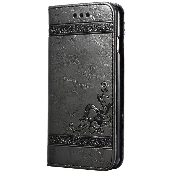 5 5S 6S Luxury Flip Leather Case For Iphone 6 6S 7 Plus 3D Wallet Coque And Silicone Back Cover For Iphone 6 6S Plus Iphone 7 Plus