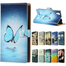 For Lenovo A6000 Case .Blue Butterfly Magnetic Wallet Style Leather Stand Cover For Flip Lenovo K3 K30-T K30-W Phone Cases