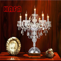 7 heads luxruy  E14 candle crystal table lamp fashion crystal table lamp living room lamps bedroom lamp K9 top crystal table