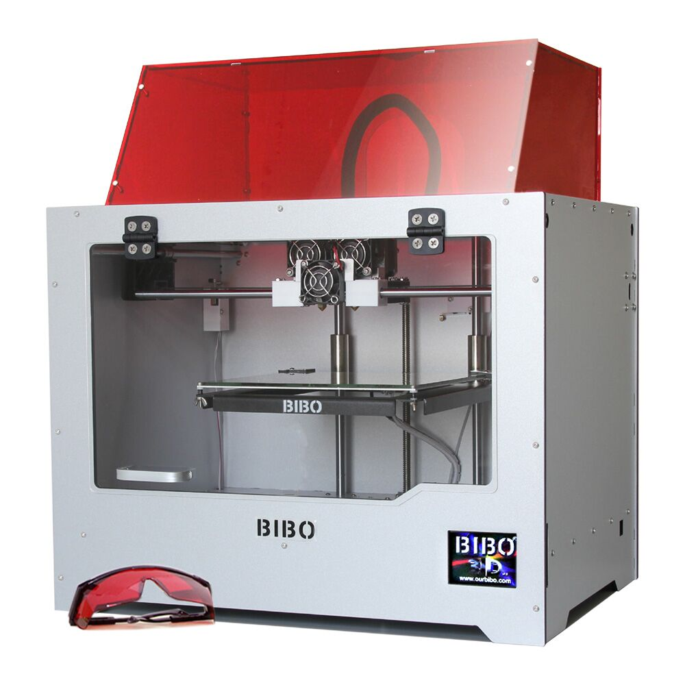 BIBO 3D Printer Cut Printing Time In Half Metal Frame Dual Extruder Laser Engraver Touch Screen Wifi Filament Detection Not DIY