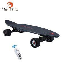 Maxfind 3.5 kg most portable hub motor remote electric skateboard with Samsung battery inside mini skateboard