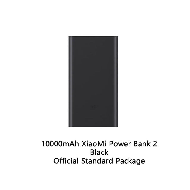 10000mAh Xiaomi Mi Power Bank 2 Quick Charger External Battery Pack portable charger USB output 18W For phones pad