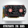 Tarjeta de video Original GPU GTX750Ti 2GB GDDR5 Tarjetas gráficas InstantKill R7 350, HD6850 para nVIDIA Geforce games