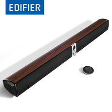 EDIFIER S50DB Bluetooth Soundbar Speaker Wood-Finish Digital Amplifiers With DSP technology Remote Control 88W Power Output