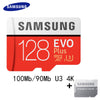 100%Original SAMSUNG Micro SD Card 32gb 64gb 128GB 16gb 8gb 100Mb/s Memory Card  Class10 Flash TF Card for Phone PC Free Adapter