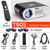 AUN Projector 3200 Lumen T90, 1280*768 (Optional Android Projector with 2.4G Air Mouse, Bluetooth WIFI, Support KODI AC3) LED TV
