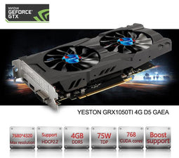 GeForce GTX 1050Ti GPU 4GB GDDR5 128 bit Gaming Desktop computer PC support Video Graphics Cards PCI-E X16 3.0 TI